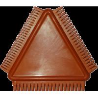 Boetseergereedschap: Kam/lomer rubber