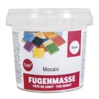 Mozaieksteentjes-cement