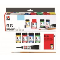 Marabu glas set (waterbasis)